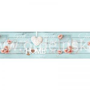 5901 Розы, сердца. Фартук для кухни МДФ. 2,8 метра