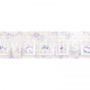 6346 Белая стена. Фартук для кухни МДФ. 2,8 метра