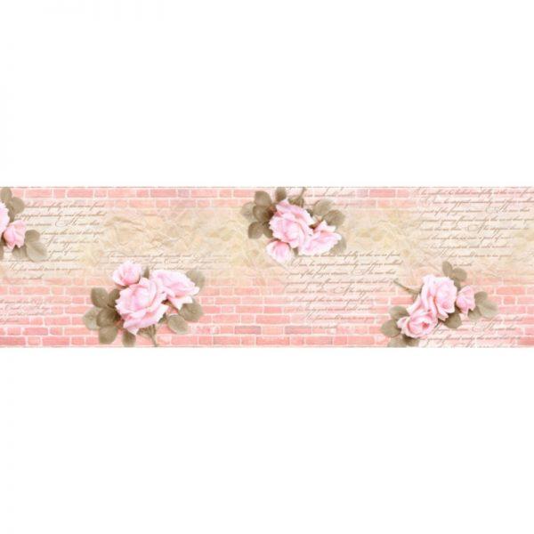 6528 Стена, цветы. Фартук для кухни МДФ. 2,8 метра