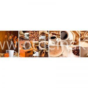 057 Кофе, зерна. Фартук для кухни МДФ. 2,8 метра