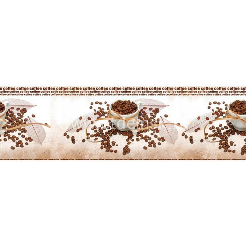 074 Кофе, зерна. Фартук для кухни МДФ. 2,8 метра
