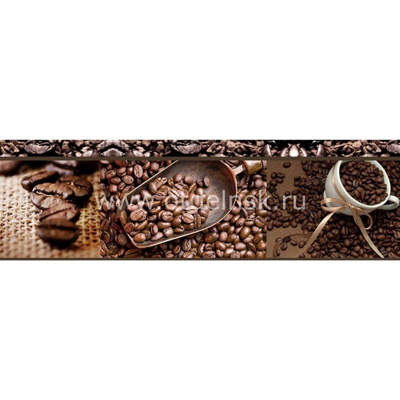172 Кофе, зерна. Фартук для кухни МДФ. 2,8 метра