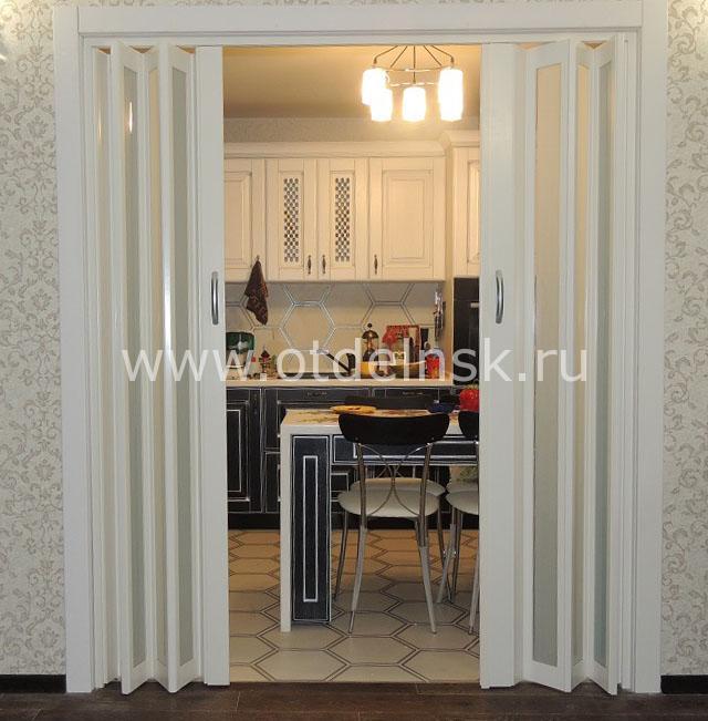 Дверь гармошка на кухню. Цена вопроса