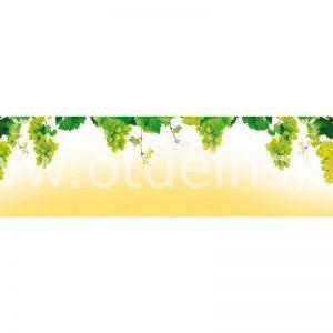 001 Фрукты, виноград. Фартук для кухни МДФ. 2,8 метра
