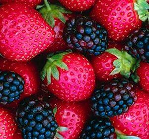 027 Фрукты, ягоды. Фартук для кухни МДФ. 2,8 метра