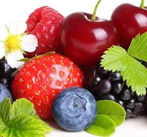 077 Фрукты, ягоды. Фартук для кухни МДФ. 2,8 метра