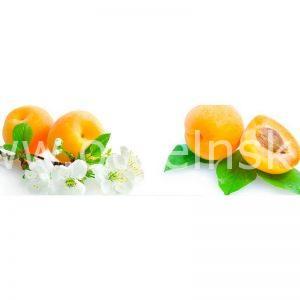 098 Фрукты, абрикосы. Фартук для кухни МДФ. 2,8 метра