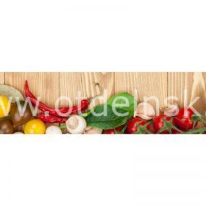 056 Овощи. Фартук для кухни МДФ. 2,8 метра