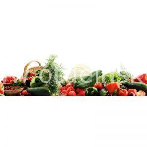 064 Овощи. Фартук для кухни МДФ. 2,8 метра