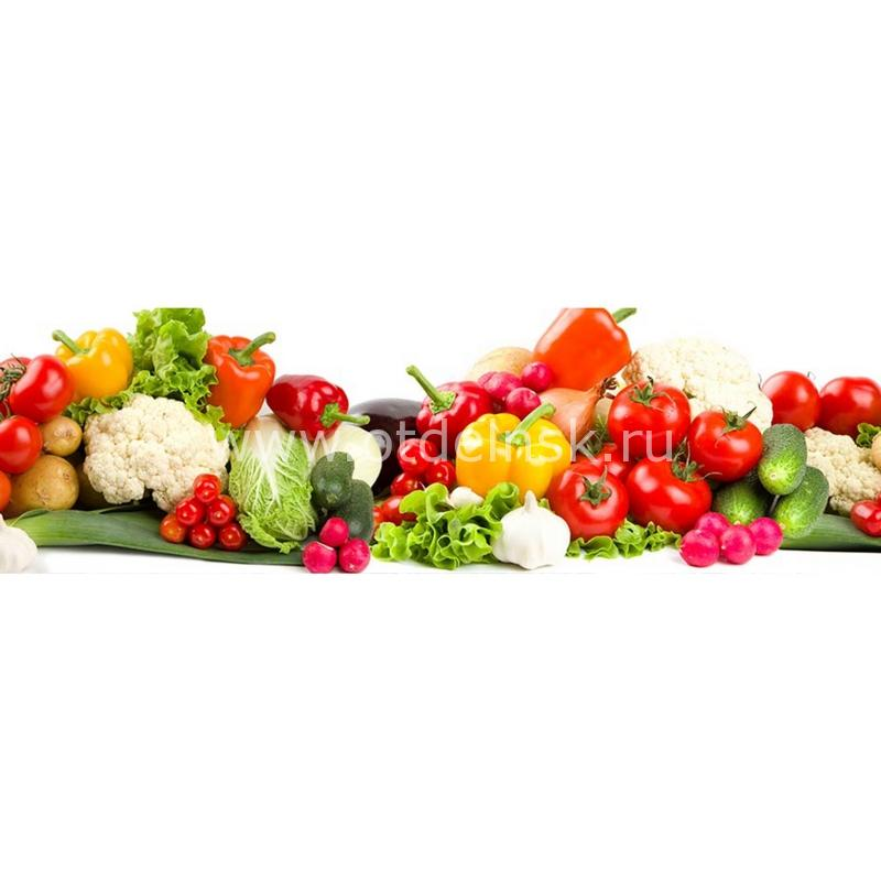 067 Овощи. Фартук для кухни МДФ. 2,8 метра