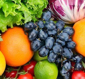 077 Овощи, фрукты. Фартук для кухни МДФ. 2,8 метра