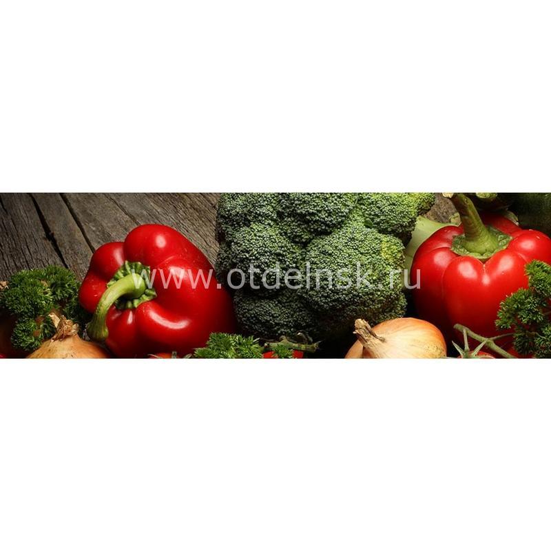 123 Овощи. Фартук для кухни МДФ. 2,8 метра