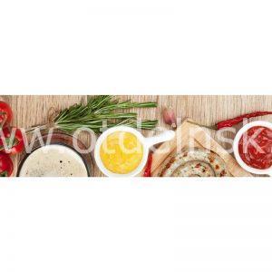 128 Овощи. Фартук для кухни МДФ. 2,8 метра