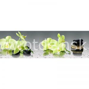 1409 Цветы, спа. Фартук для кухни МДФ. 2,8 метра