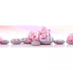 144 Цветы, спа. Фартук для кухни МДФ. 2,8 метра