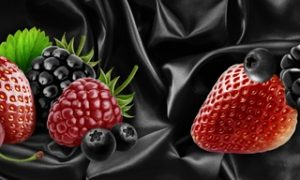 2570 Фрукты, ягоды. Фартук для кухни МДФ. 2,8 метра