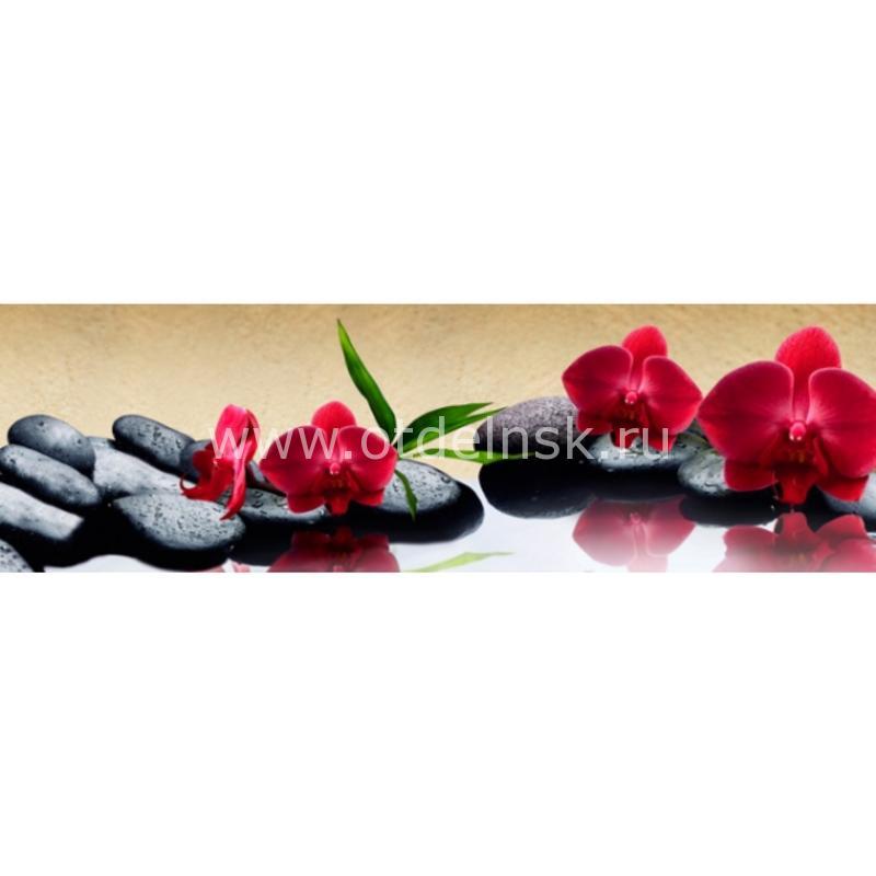 2617 Цветы, спа. Фартук для кухни МДФ. 2,8 метра