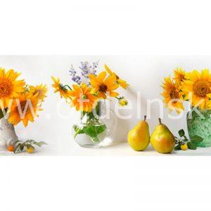 268 Цветы, подсолнухи. Фартук для кухни МДФ. 2,8 метра