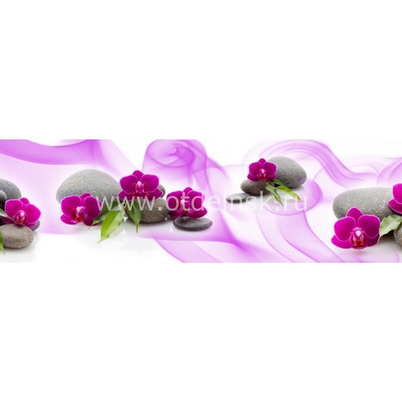3005 Цветы, спа. Фартук для кухни МДФ. 2,8 метра