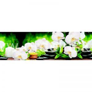 321 Цветы, спа. Фартук для кухни МДФ. 2,8 метра