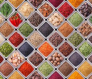 4917 Плитка, овощи. Фартук для кухни МДФ. 2,8 метра