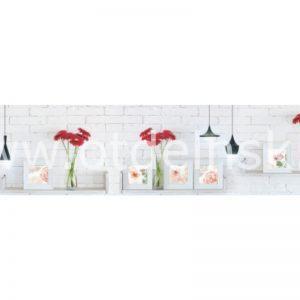 Красные герберы. Фартук для кухни пластиковый. 3 метра