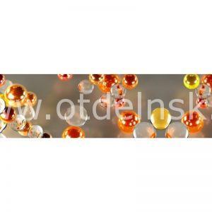 Оранжевые пузырики. Фартук для кухни пластиковый. 3 метра