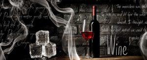 Вино и лед. Фартук для кухни пластиковый. 3 метра