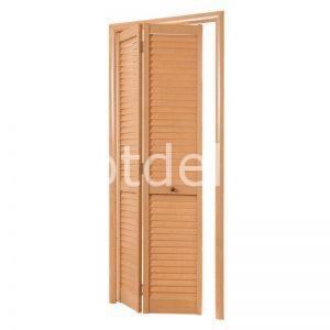 Дверь гармошка жалюзийная из ПВХ Дуб старый 2005 Х 810 мм