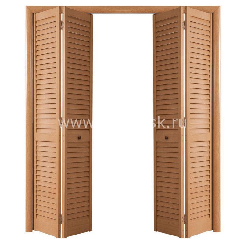 Дверь гармошка жалюзийная из ПВХ Дуб старый 2005 Х 1200 мм