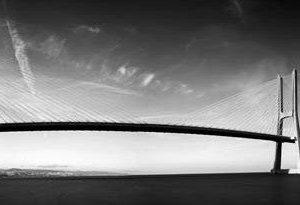 0322 Город, мост. Фартук для кухни МДФ. 2,8 метра