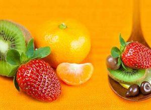 0382 Чай, фрукты. Фартук для кухни МДФ. 2,8 метра