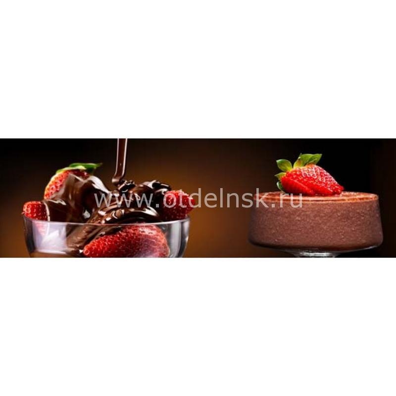 0384 Малина, шоколад. Фартук для кухни МДФ. 2,8 метра