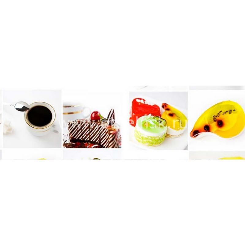 0604 Кофе, пирожные. Фартук для кухни МДФ. 2,8 метра