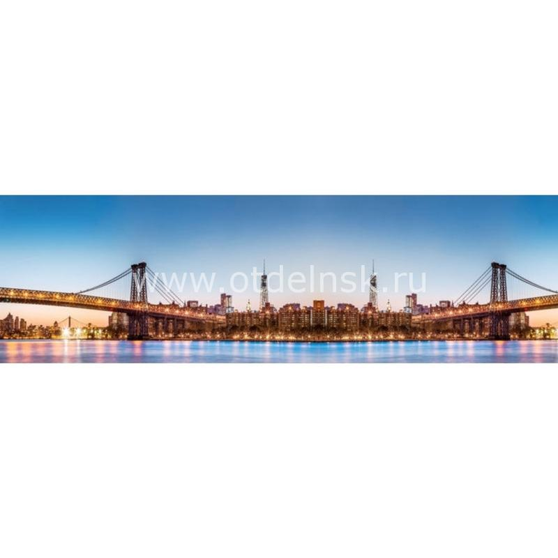 0896 Город, мост. Фартук для кухни МДФ. 2,8 метра