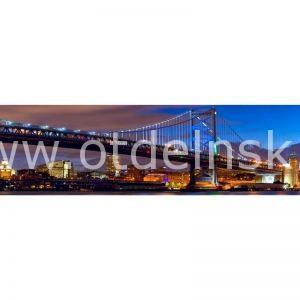 0898 Город, мост. Фартук для кухни МДФ. 2,8 метра