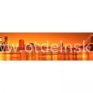 0900 Город, мост. Фартук для кухни МДФ. 2,8 метра