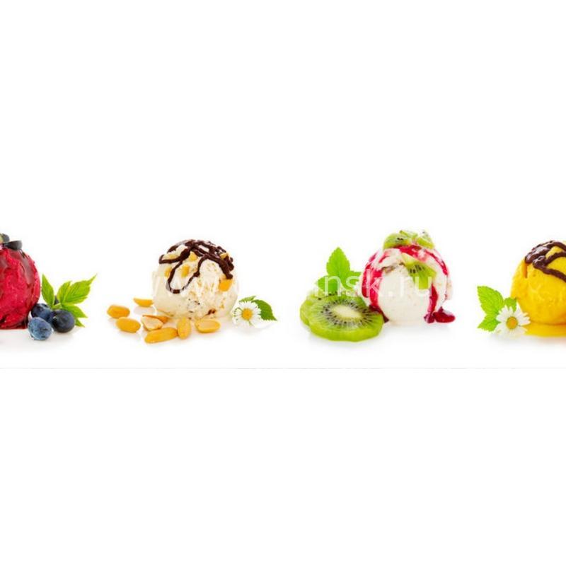 1103 Мороженое, фрукты. Фартук для кухни МДФ. 2,8 метра