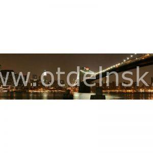 1108 Город, мост. Фартук для кухни МДФ. 2,8 метра