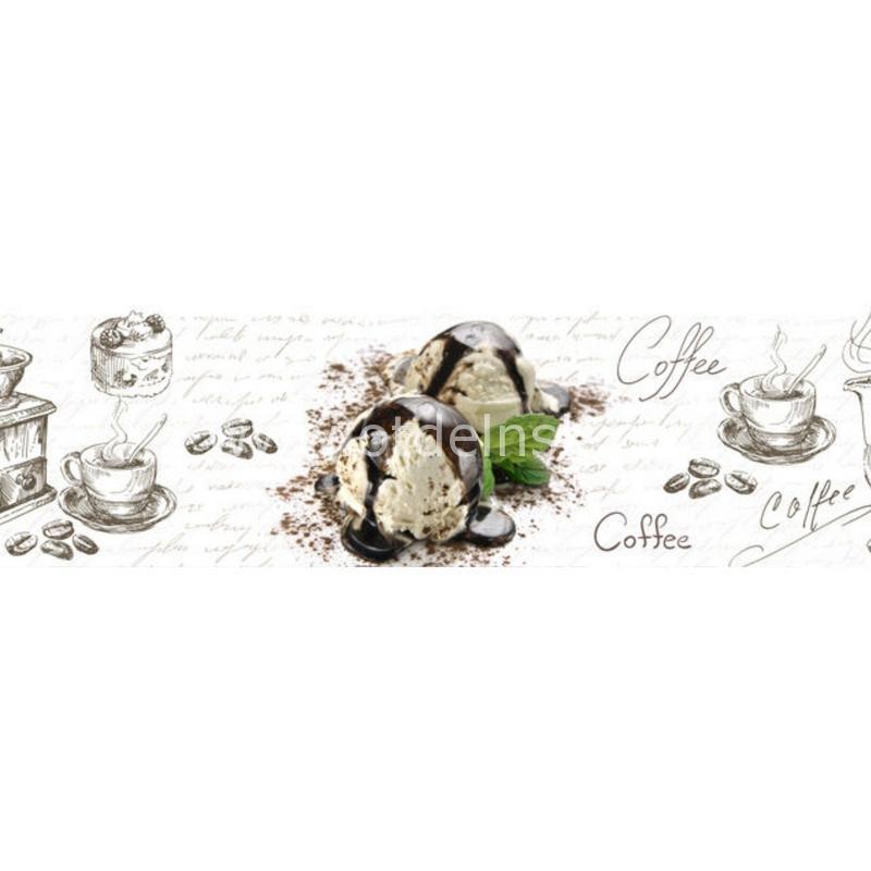 1231 Кофе, мороженое. Фартук для кухни МДФ. 2,8 метра
