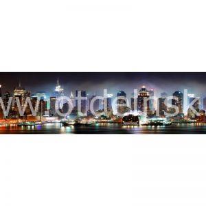 1267 Город, мост. Фартук для кухни МДФ. 2,8 метра