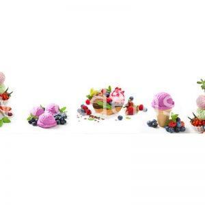 1883 Мороженое, ягоды. Фартук для кухни МДФ. 2,8 метра