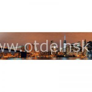 2045 Город, мост. Фартук для кухни МДФ. 2,8 метра