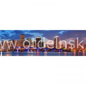 2077 Город, мост. Фартук для кухни МДФ. 2,8 метра
