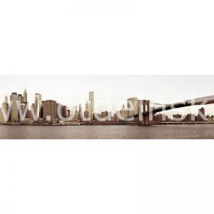 2116 Город, мост. Фартук для кухни МДФ. 2,8 метра
