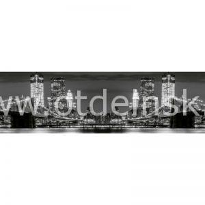 2202 Город, мост. Фартук для кухни МДФ. 2,8 метра
