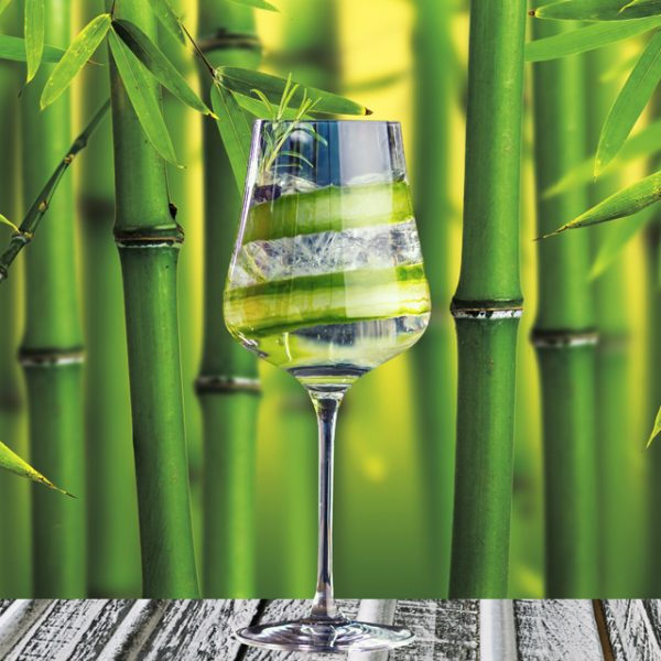 6582 Бамбук, напитки. Фартук для кухни МДФ. 2,8 метра