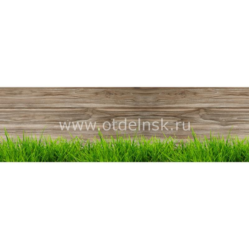 7304 Трава. Фартук для кухни МДФ. 2,8 метра