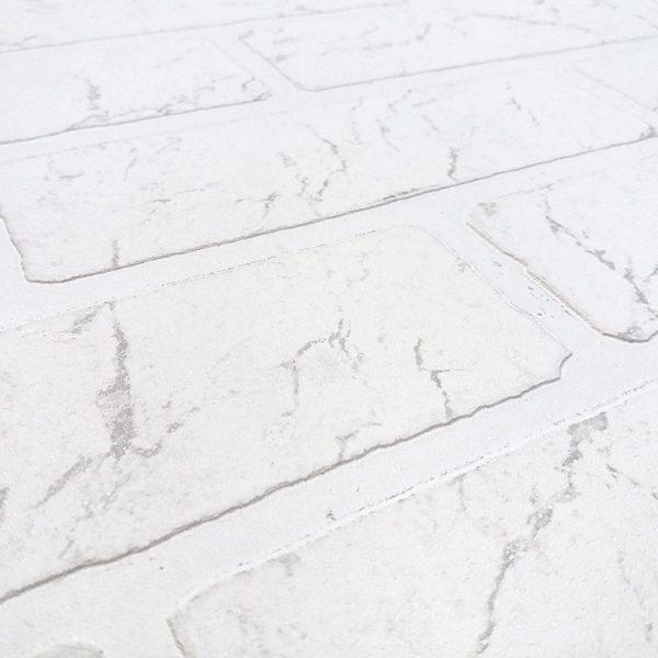 """Листовая панель МДФ 43799 """"Кирпич Арктика"""" 1220х2440х6 мм"""