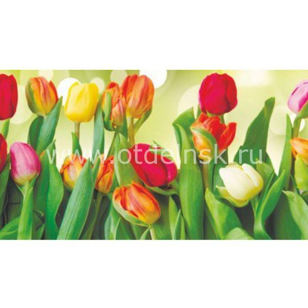 39 Тюльпаны. Фартук для кухни пластиковый. 3 метра